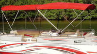 Bimini-Top-Pontoon-Unassembled-Carver™Carver(r) UNassembled, folding 4 square tube Pontoon Bimini Top with nylon fittings, hardware and straps.Carver(r) has over 30 years of experience building Bimini-Tops and Boat-Covers.