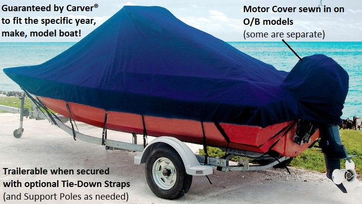 BOAT COVER FITS CRESTLINER SPORTFISH 2050 2003 2004 TRAILERABLE HEAVY-DUTY