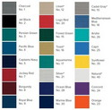 Sunbrella® colors offered by Carver®
