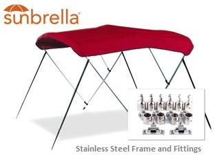 Bimini-Top-Sunbrella-Stainless-Carver™Carver(r) folding Sunbrella  sc 1 st  RNR-Marine & Bimini Top Sunbrella Stainless Carver from RNR-Marine.com™