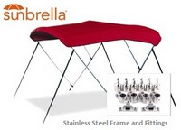 Sunbrella^&reg^; Stainless Steel Bimini Top