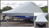 Wakeboard-Tower-Over-The-Tower-Boat-Cover-C™Over-Tower-Cover completely covers Boat, Wakeboard Tower and Swim Platform, versus Bow, Cockpit and Mooring Covers that do not cover the hull AND tower