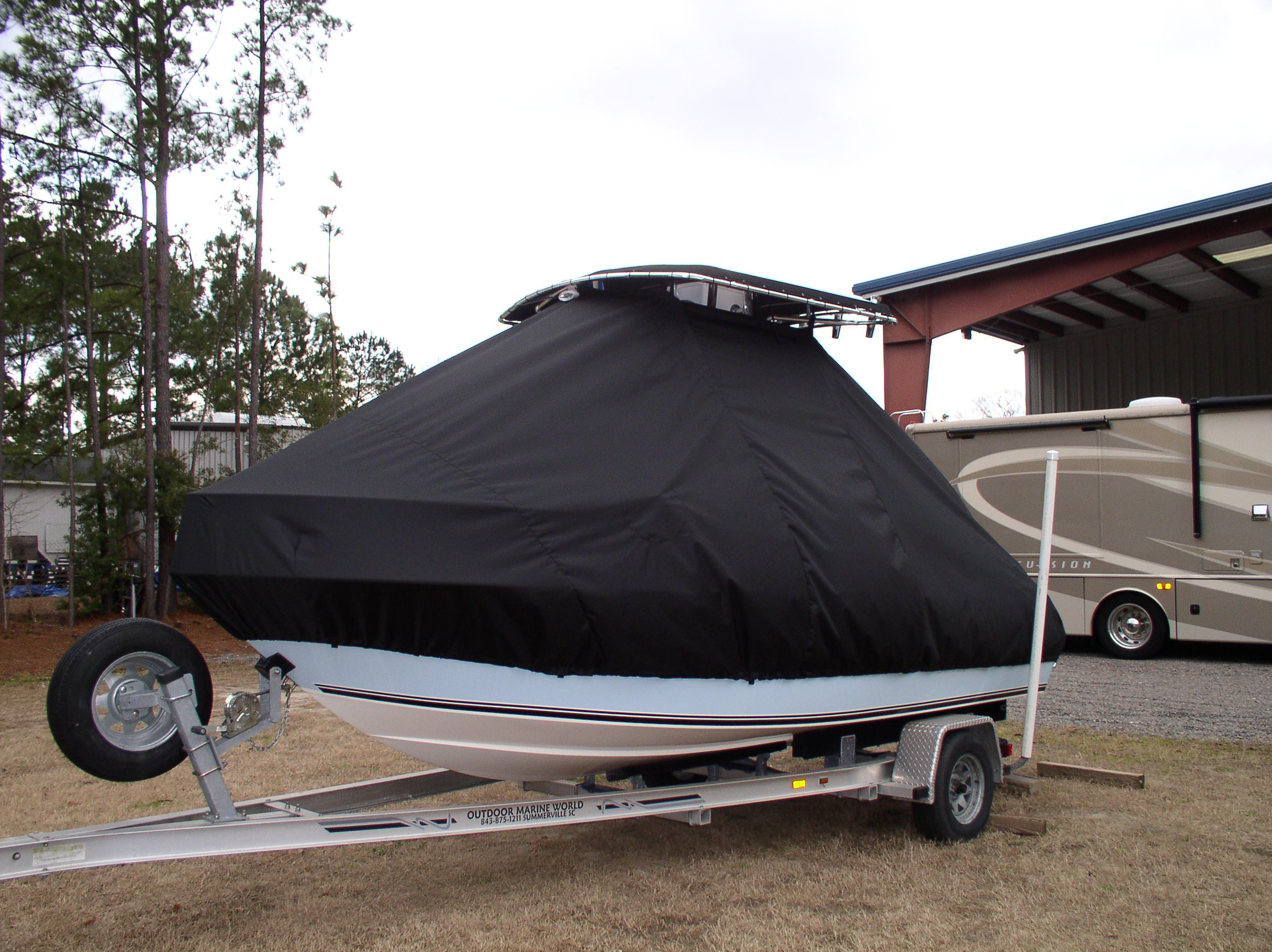 Century 1800CC, 20xx, TTopCovers™ T-Top boat cover, port front