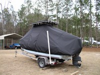 Photo of Century 1800CC 20xx T-Top Boat-Cover, viewed from Port, Rear