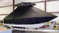 Photo of Century 2001CC 20xx T-Top Boat-Cover, viewed from Port, Front