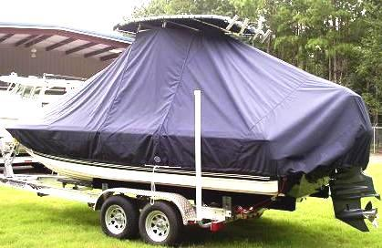 Century 2101 Bay, 20xx, TTopCovers™ T-Top boat cover, port rear