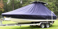 Photo of Century 2102 Bay 20xx T-Top Boat-Cover, viewed from Port, Front