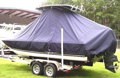Century 2102 Bay, 20xx, TTopCovers™ T-Top boat cover, port rear