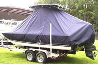 Photo of Century 2102 Bay 20xx T-Top Boat-Cover, viewed from Port, Rear