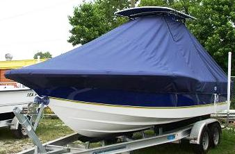 Century 2300CC, 19xx, TTopCovers™ T-Top boat cover, port front