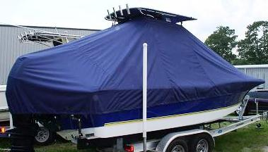 Century 2300CC, 20xx, TTopCovers™ T-Top boat cover, starboard rear