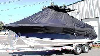 Century 2400CC, 19xx, TTopCovers™ T-Top boat cover, port front