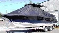 Photo of Century 2400CC 19xx T-Top Boat-Cover, viewed from Port, Front
