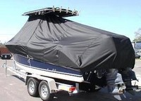 Photo of Century 2400CC 19xx T-Top Boat-Cover, viewed from Port, Rear