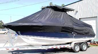 Century 2400CC, 20xx, TTopCovers™ T-Top boat cover, port front