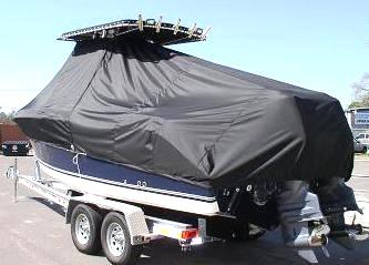 Century 2400CC, 20xx, TTopCovers™ T-Top boat cover, port rear
