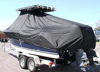 Photo of Century 2400CC 20xx T-Top Boat-Cover, viewed from Port, Rear