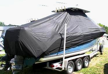 Century 2900CC, 20xx, TTopCovers™ T-Top boat cover sbtd rear