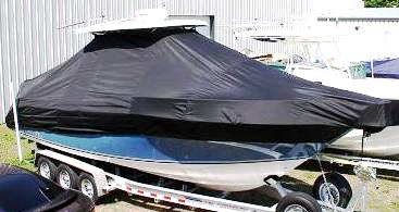 Century 2901CC, 20xx, TTopCovers™ T-Top boat cover, starboard front