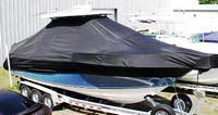 Photo of Century 2901CC 20xx T-Top Boat-Cover, viewed from Starboard Front