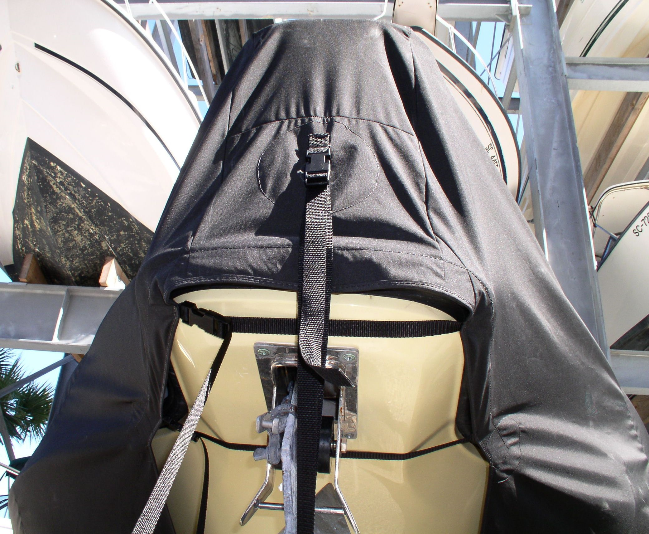 Century 3200CC, 20xx, TTopCovers™ T-Top boat cover bow