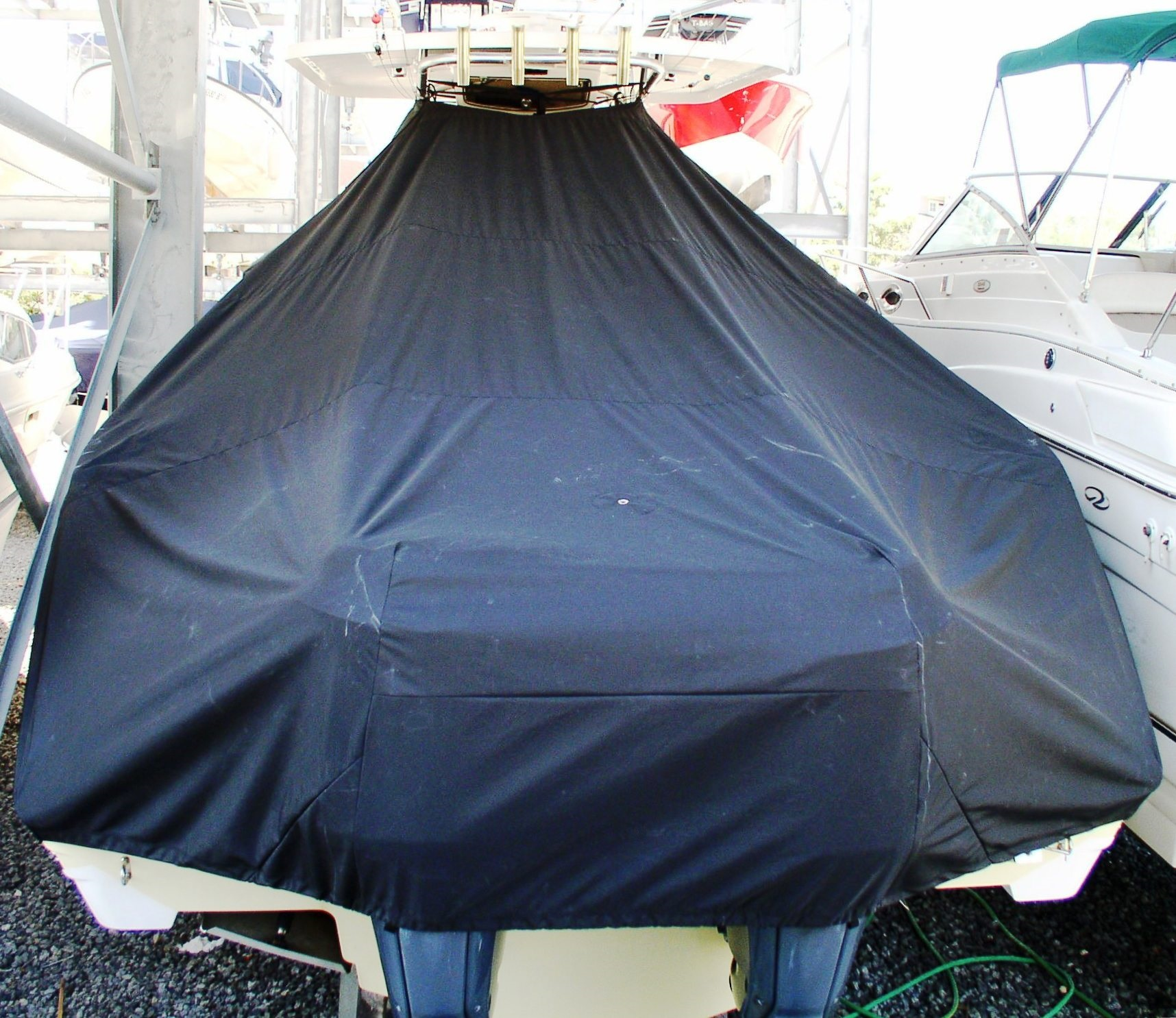 Century 3200CC, 20xx, TTopCovers™ T-Top boat cover rear