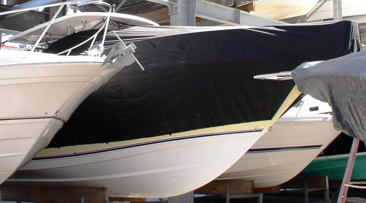 Century 3200CC, 20xx, TTopCovers™ T-Top boat cover, starboard front