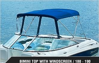 Chaparral® 180-SSI-190-SSI, 2005: SSi Bimini-Top Connector Side-Curtains website-photo, port-front