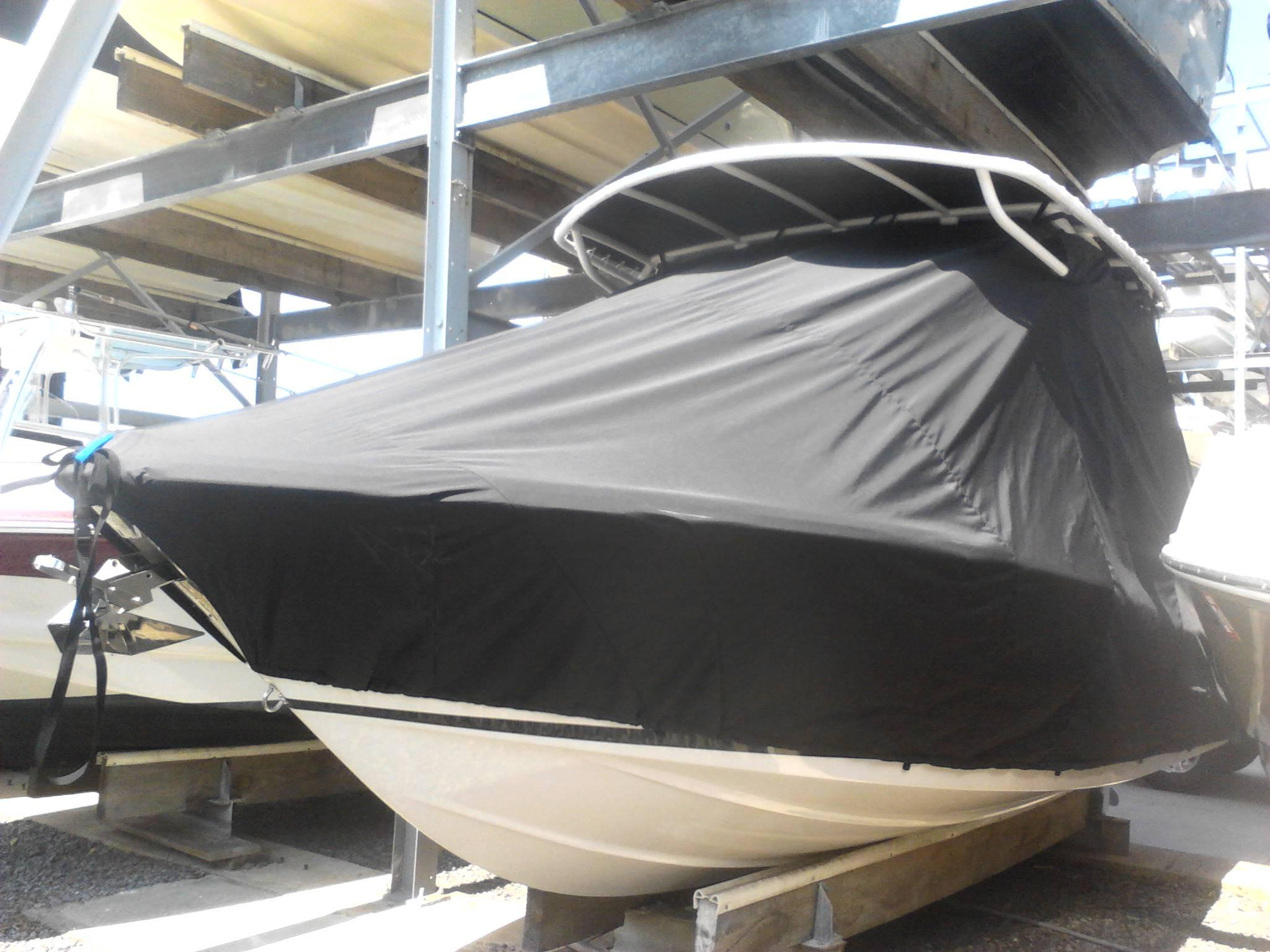 Chris Craft 23WA, TTopCovers™ T-Top boat cover, port front