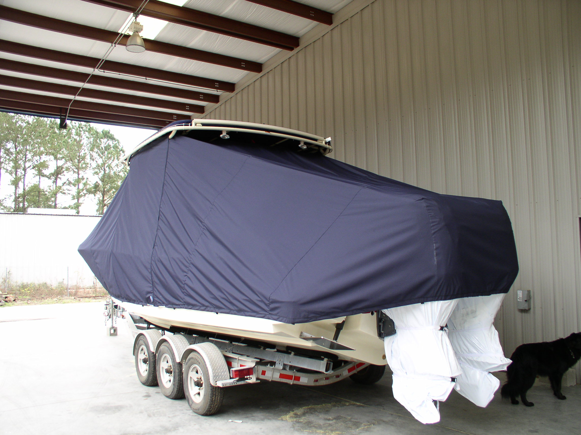 Chris Craft 29 Sun Tender, 20xx, TTopCovers™ T-Top boat cover, port rear