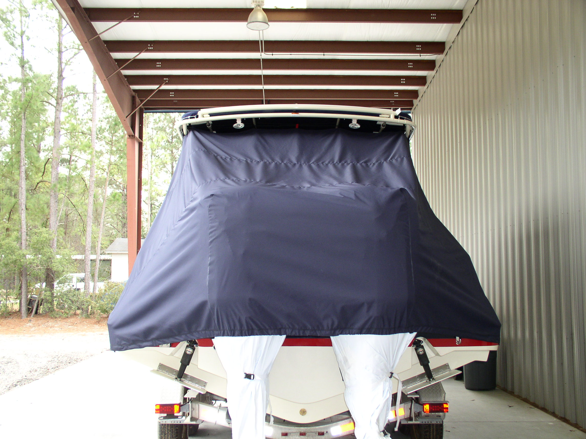 Chris Craft 29 Sun Tender, 20xx, TTopCovers™ T-Top boat cover rear