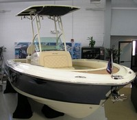 Photo of Chris Craft Catalina 23CC, 2015: Center Mounted T-Top, viewed from Starboard, Front