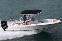 Photo of Chris Craft Catalina 23CC, 2015: Gunwale Mounted Arch, viewed from Starboard, Side