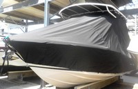 Photo of Chris Craft Catalina 23CC 20xx T-Top Boat-Cover, viewed from Port, Front