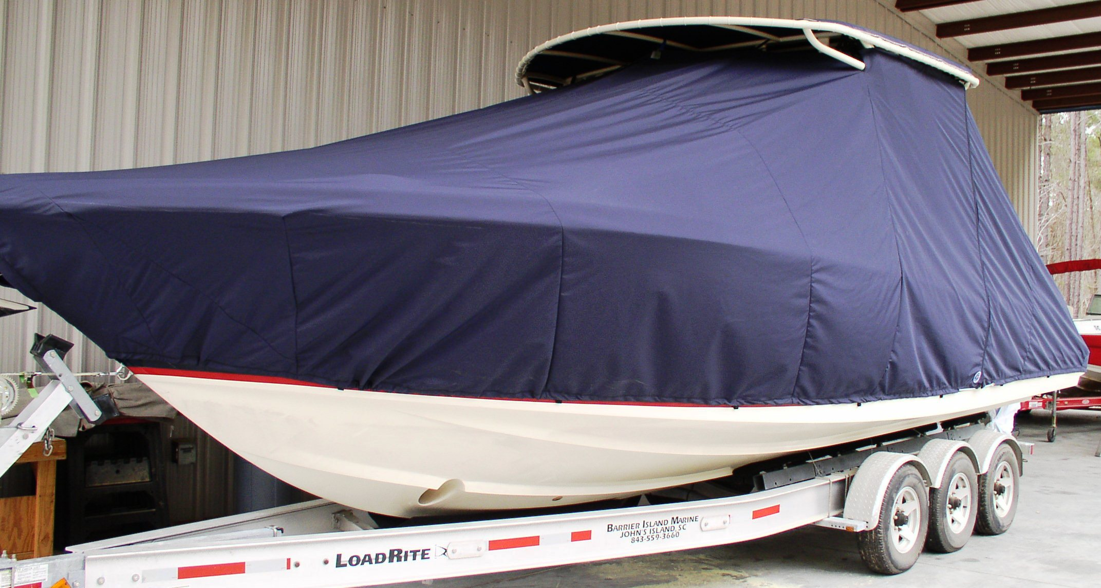 Chris Craft Catalina 29 Sun Tender, 20xx, TTopCovers™ T-Top boat cover, port front