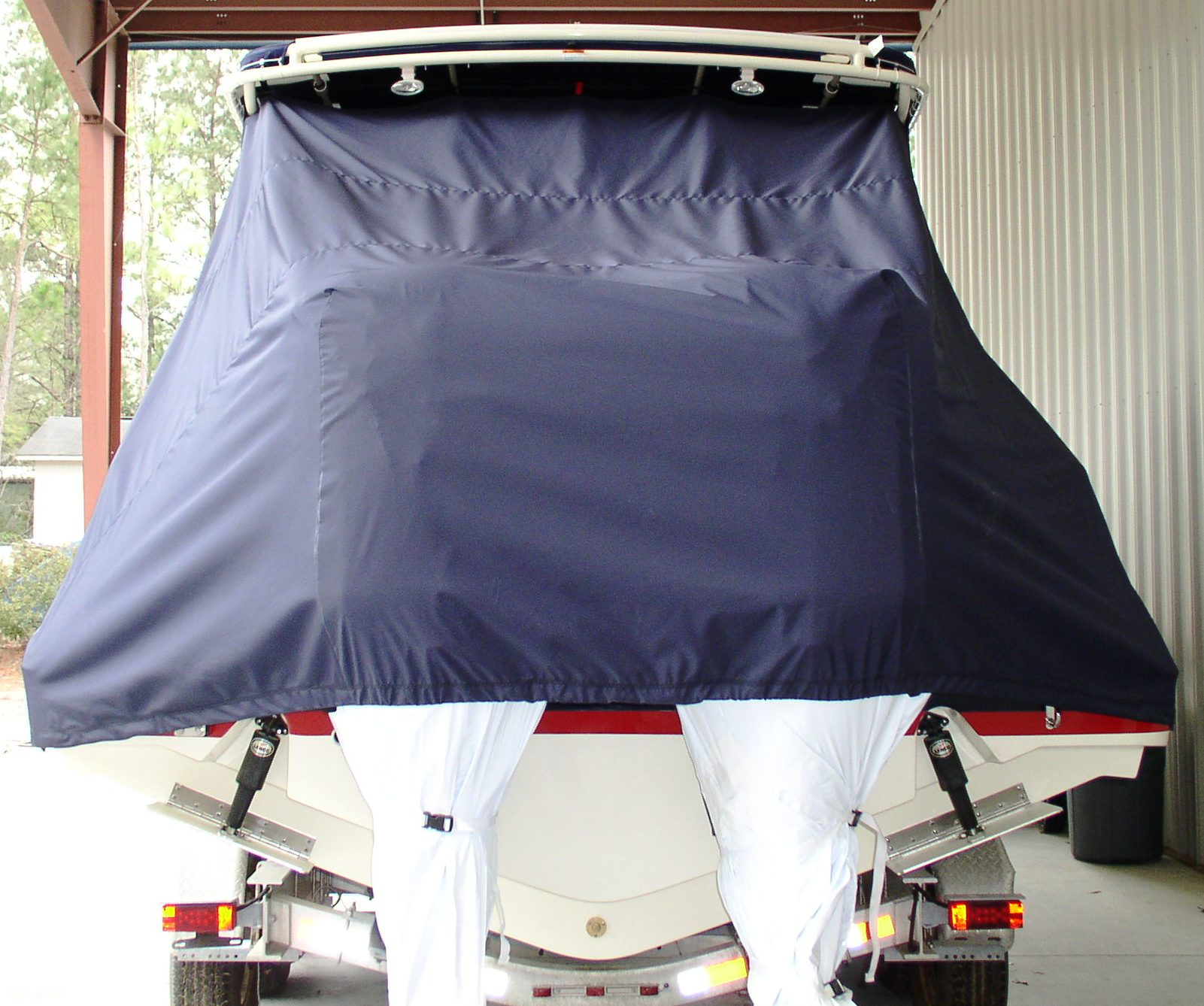 Chris Craft Catalina 29 Sun Tender, 20xx, TTopCovers™ T-Top boat cover rear