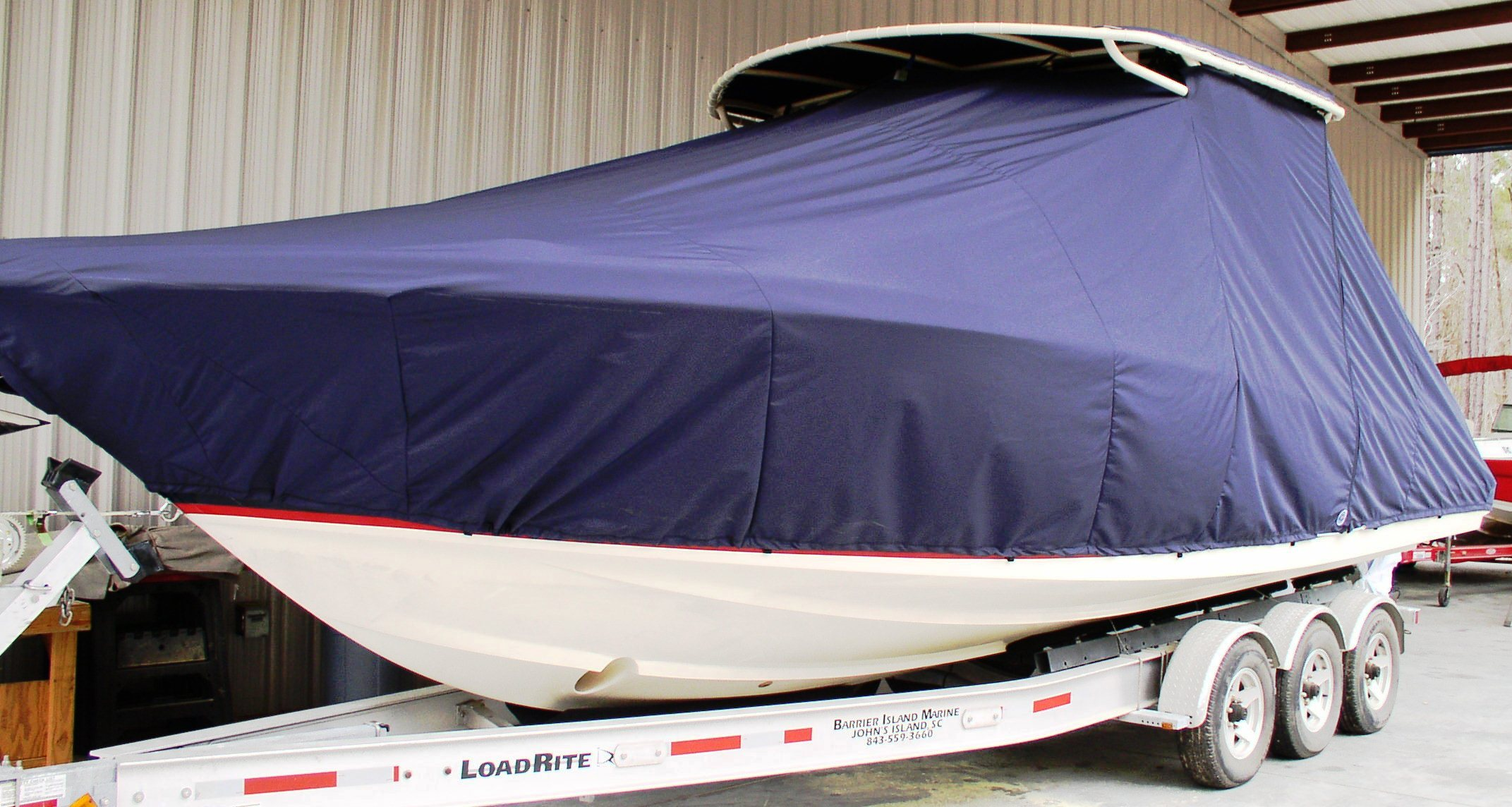 Chris Craft Catalina 29 SunTender, 20xx, TTopCovers™ T-Top boat cover, port front