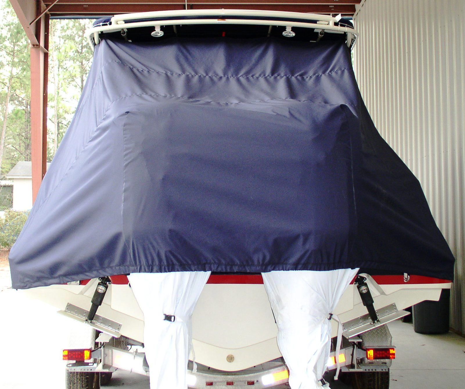 Chris Craft Catalina 29 SunTender, 20xx, TTopCovers™ T-Top boat cover rear