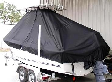 Clearwater, 201CC, 20xx, TTopCovers™ T-Top boat cover, port rear