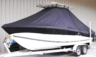 Clearwater, 201CC, 20xx, TTopCovers™ T-Top boat cover, port side