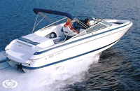 Photo of Cobalt 246, 2003: Bimini Top (Factory OEM website photo), viewed from Starboard Rear