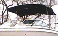 Photo of Cobalt 262, 2002: Bimini Top black, viewed from Port Front