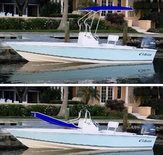 Cobia, 19 Bay, 2010 Blue, T-Topless™