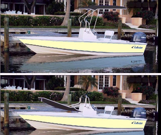 Cobia, 19 Bay, 2010 Fighting Lady Yellow, T-Topless™ Black