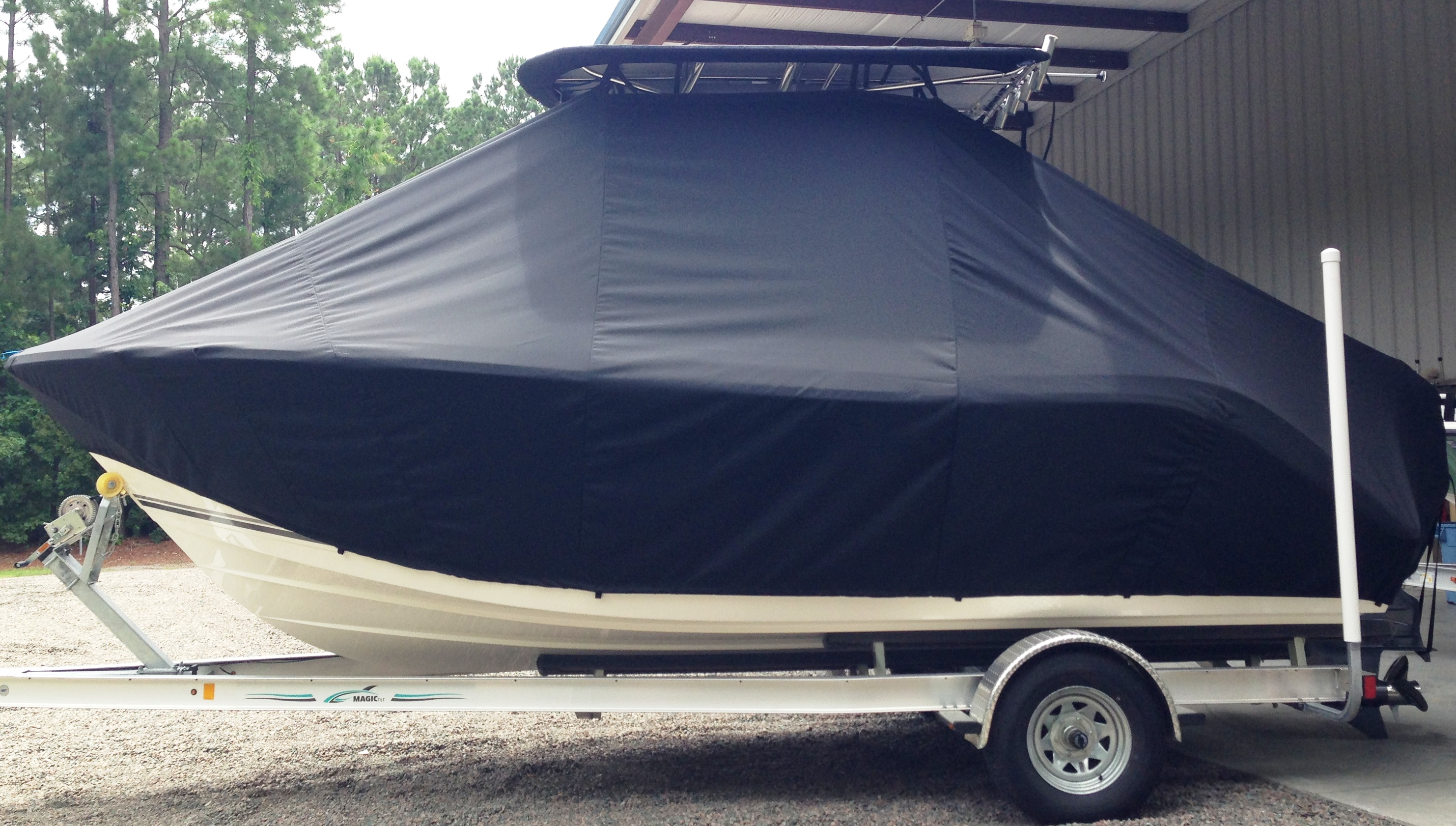 Cobia, 201CC, 20xx, TTopCovers™ T-Top boat cover, port side