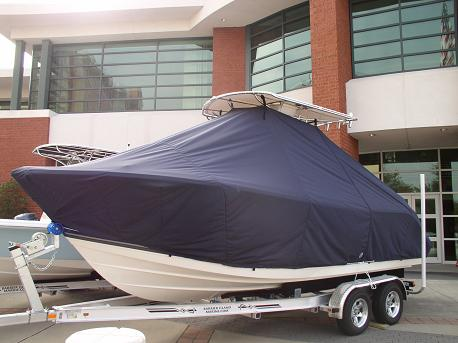 Cobia 217CC, 20xx, TTopCovers™ T-Top boat cover Port Front 564