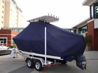 Photo of Cobia® 217CC 20xx T-Top Boat-Cover, viewed from Port Rear 564