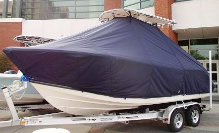 Cobia 220CC, 20xx, TTopCovers™ T-Top boat cover, port front