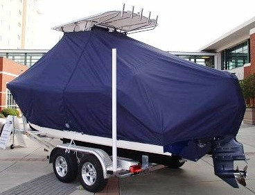 Cobia 220CC, 20xx, TTopCovers™ T-Top boat cover, port rear