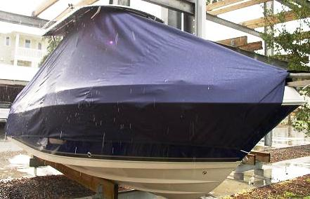 Cobia 236CC, 20xx, TTopCovers™ T-Top boat cover Front